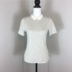 J.Crew Silk Peter Pan Collared Tee